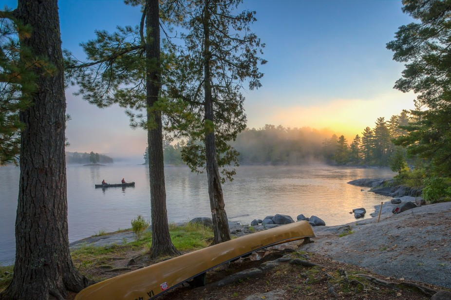 While on a canoe trip to the Boundary Waters Canoe Area Wilderness in Northern Minnesota, we woke...