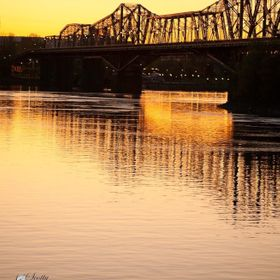 This is the bridge across the Ottawa River bridging Eastern Ontario and Western Quebec, in Canada.  A nation with several cultures bridged by a c...