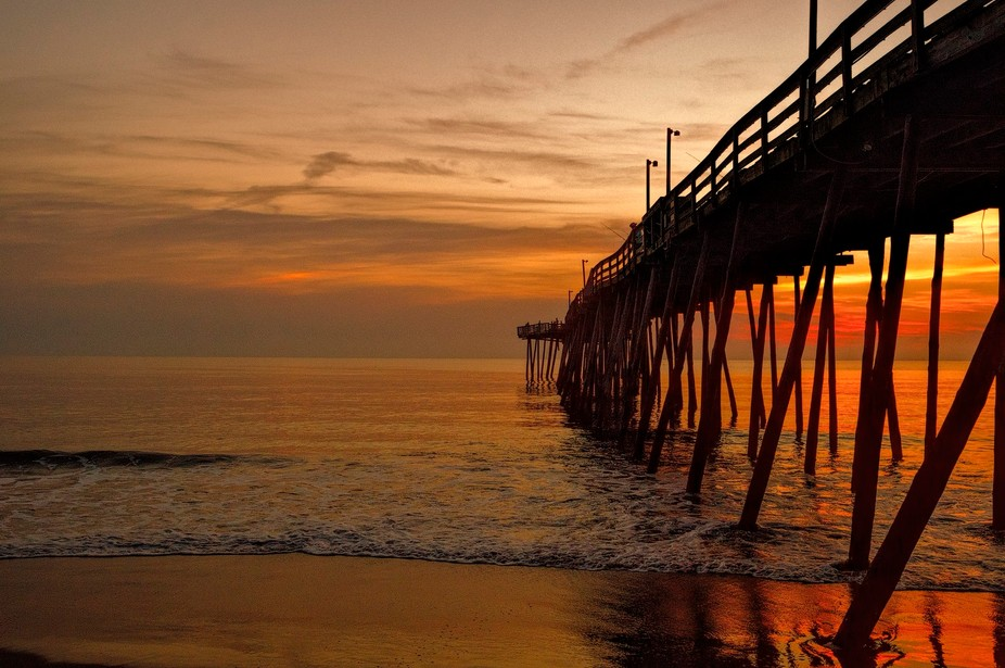 shot at Avalon Pier in Kill Devil Hills NC near sunrise  with an Sony a 57 and sigma 24 mm 2.8  lens