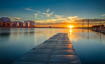 Sunset @ End Of Boat Dock