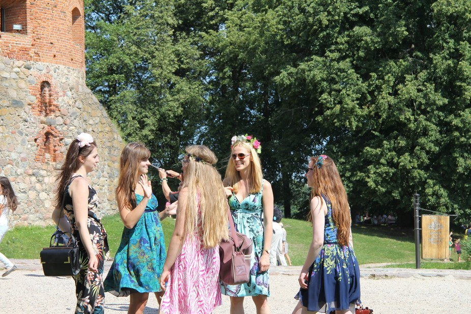 "Trakai Castle, Lithuania. ""Some flowers in your hair"""