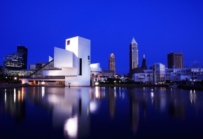 Cleveland with rock and roll hall of fame