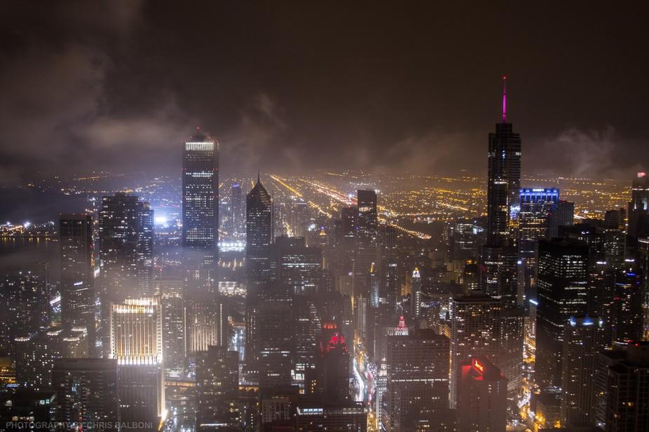 Chicago's skyline, post-storm.