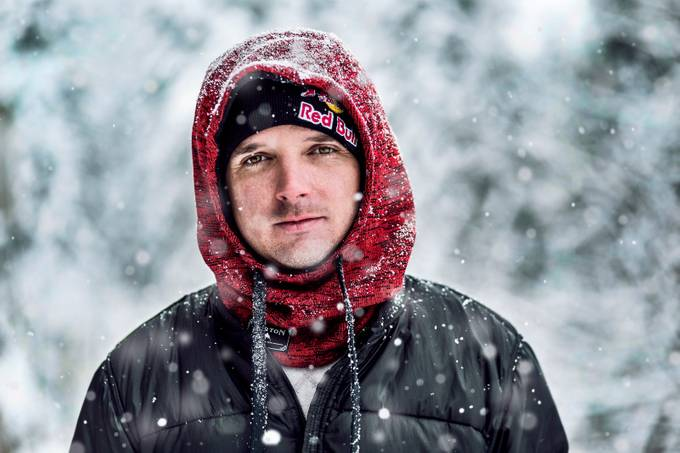 Marko Grilc in snowstorm by janezkocbek - People With Bokeh Photo Contest