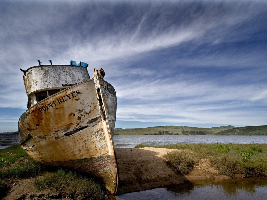 I revisit this beached and decaying ship every few years. As an image, it never stops giving, tha...