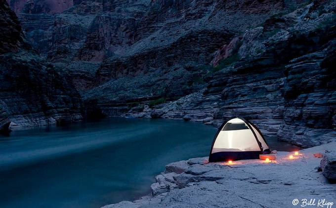 Camping in the Grand Canyon  by billklipp - Our World At Night Photo Contest