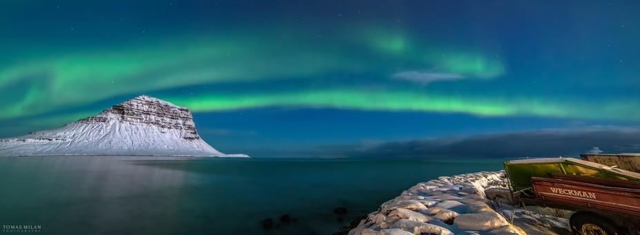 An unforgettable night of intense aurora activity in Grundarfjörður, Iceland.