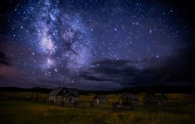 Milky Way Over the Hornbek Homestead