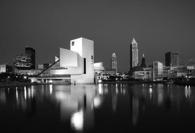 Cleveland Rock hall b&w