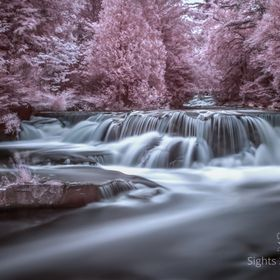 Near IR capture of Bond Falls in the upper peninsula of Michigan