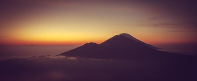 Atmospheric Sunrise from Mount Batur, Bali