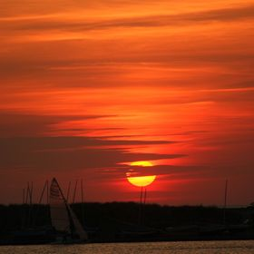 Gorgeous sunset over Marine Lake. June 2015. Southport NW England