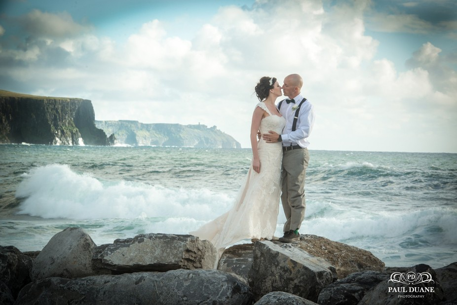 Beautiful American couple came all the way to Ireland to get married. Here they are very much in ...