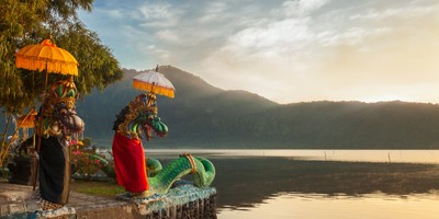 Dragon statues at Lake Bratan, Bali