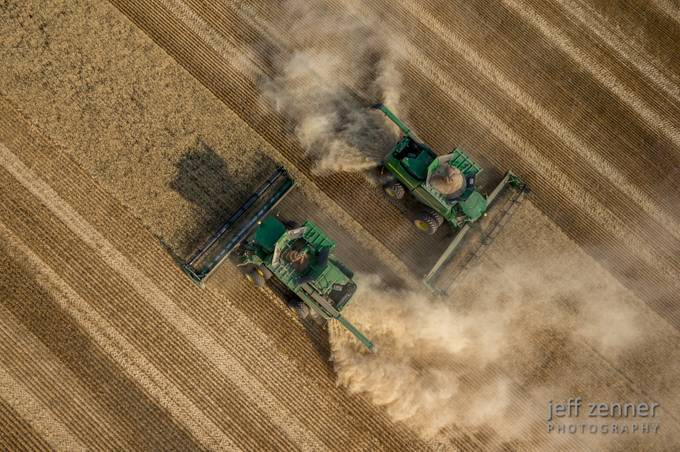 Caution: Deere Crossing! by jeffzenner - High Vantage Points Photo Contest