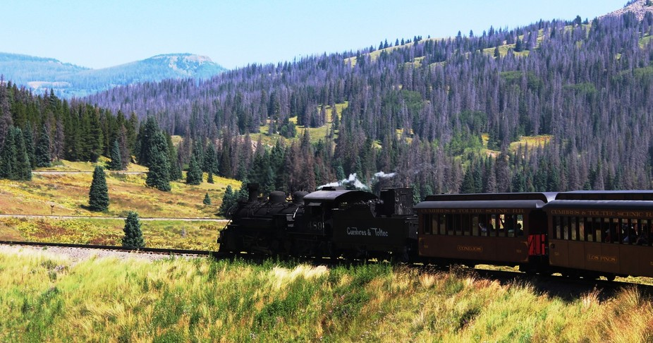 While on train ride from Chamas New Mexico to Antinito Co., on the Cumbres & Toltec Train.