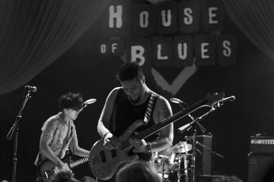 Local Chicago band at the House of Blues. Really great venue to photograph, if you're ab...
