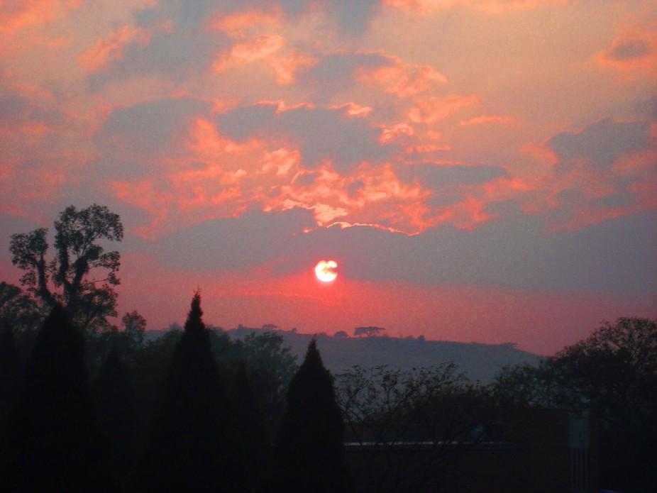 Sunrise on a misty morning