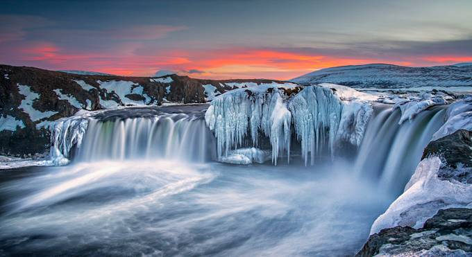 Godafoss in Winter by anitae403 - Landscapes Of Iceland Photo Contest