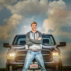 Cool guy with his cool truck.  Dodge Ram and his owner, senior pictures that rock!  K Jay Photos Photography, Madison WI Photographer.