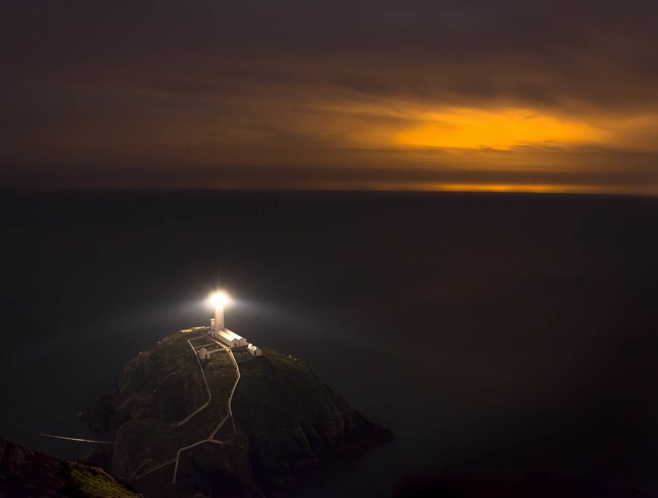South Stack Lighthouse Anglesey .. a night shooting a bit different than the norm. the orange glo...
