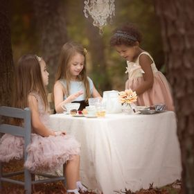I loved taking this picture and the kids loved being a part of it!  Who doesn't like a tea partY/