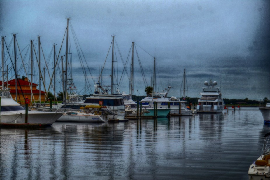 Boats on Commachee Harbor