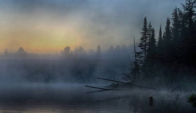 5am - Wilson Lake, Quebec by JimCumming - Mist And Drizzle Photo Contest