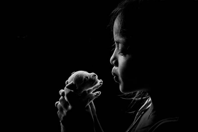 love for a little pet by froirivera - Children and Animals Photo Contest