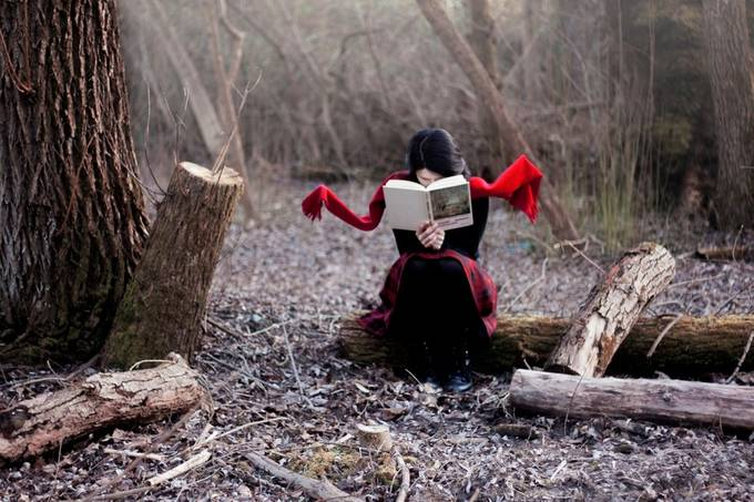 The excited reading by safeerck - Creative Reality Photo Contest