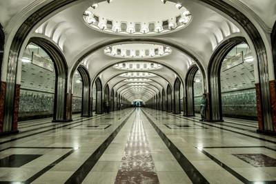 Moscow Metro - Maykovskaya Station