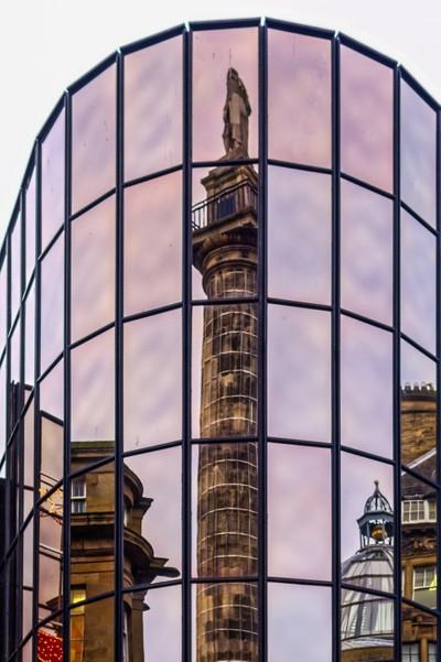 """Greys Monument reflection"""