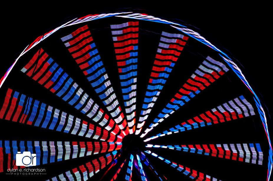 This is an abstract of a Ferris Wheel I shoot at the Texas State Forest Festival.
