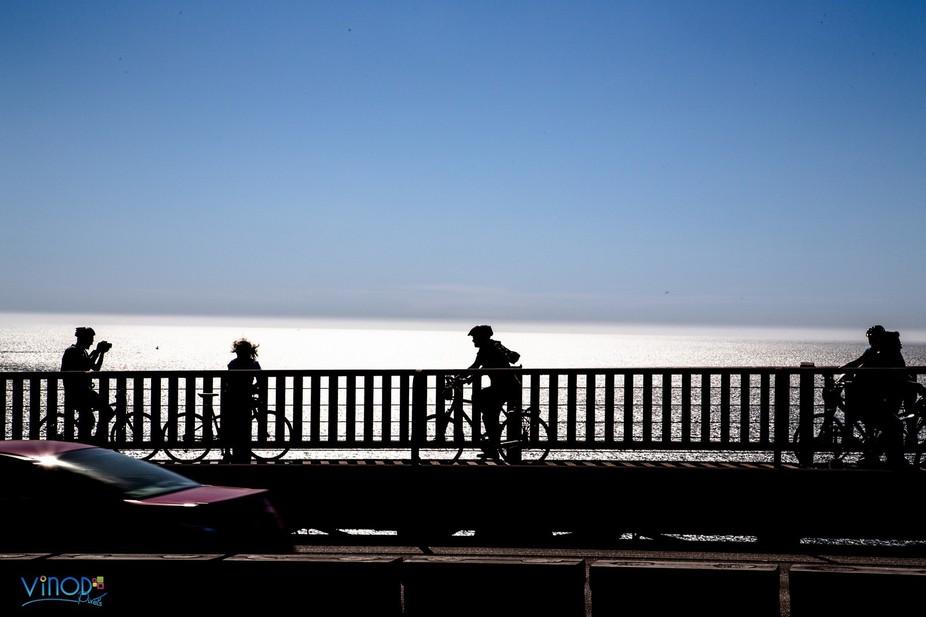 Millions across the bridge but bikers steal the pride! Bay meet dusk