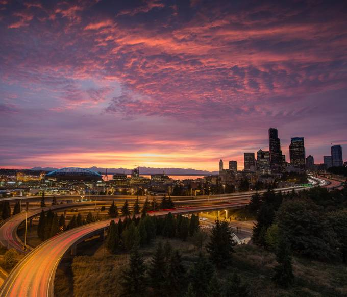 Seattle Sunset by larrymarshall - City Views Photo Contest