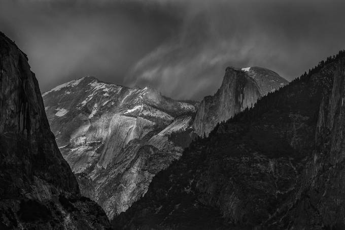 Yosemite Tunnel View by larrymarshall - Black And White Landscapes Photo Contest
