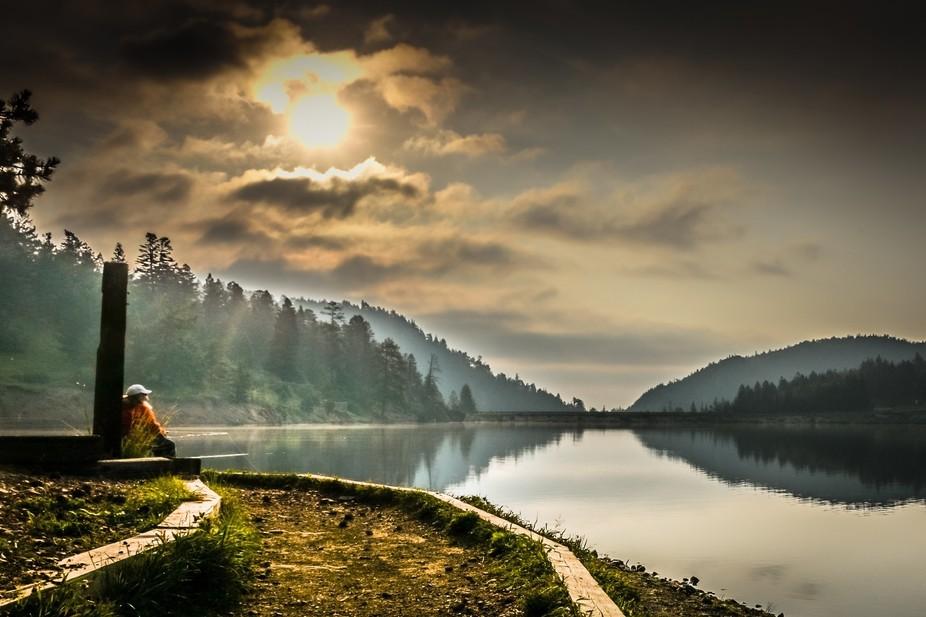 Sunrise at Lake Isabelle, Colorado