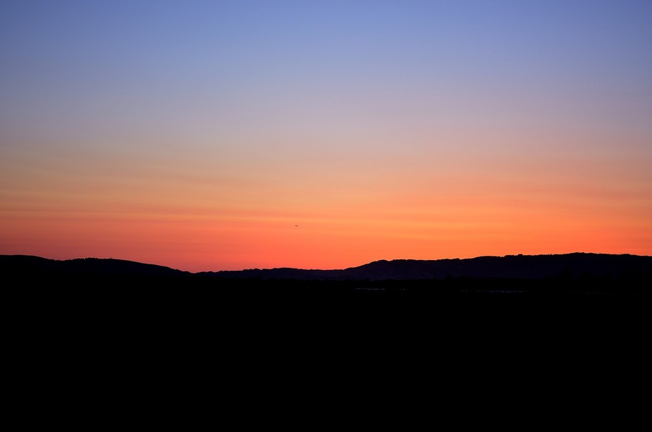 sunset in Napa