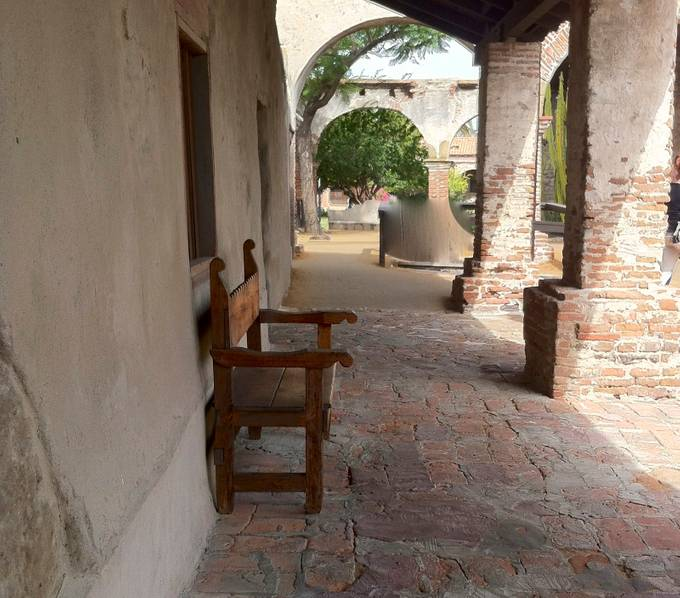 San Jaun Capistrano Mission is a soothing site.