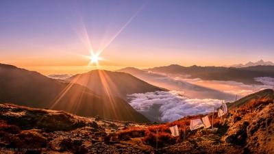 Himalayas sunset