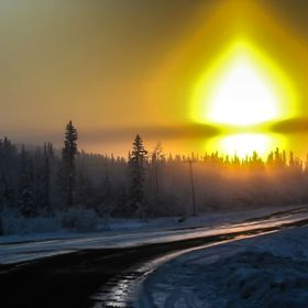 Those Winter mornings in Alaska when what you see of the sunrise is a sun dog and it's around 1pm and then it goes back in at 4pm :-)