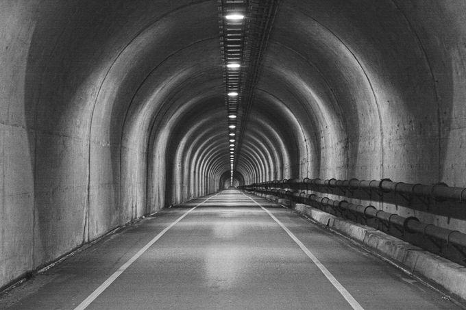 Tunnel B&W (1a) by bigblockcarl - Shooting Tunnels Photo Contest