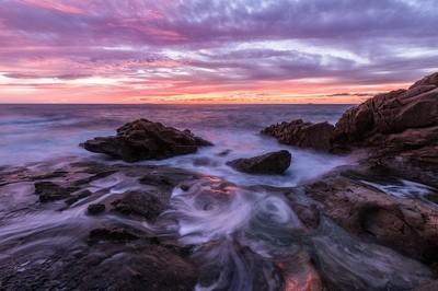 Primitive sunset