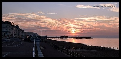 sun rise over hastings peir
