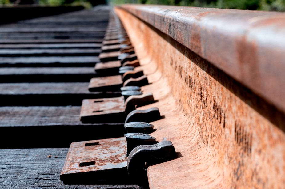 Rusty train tracks