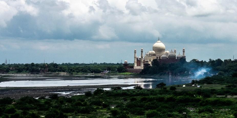 Tajmahal and Yamuna river - Agra India
