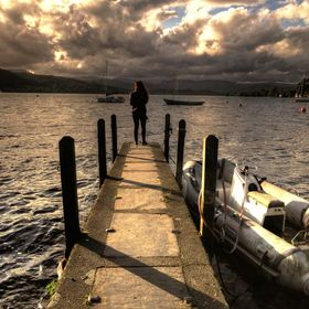 Sunset at Lake Windermere in The Lake District, Cumbria