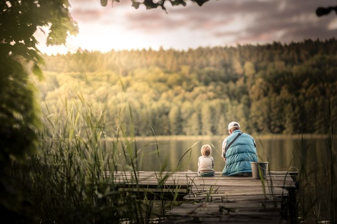 fishing with daddy by Iwona - We Love The Summer Photo Contest