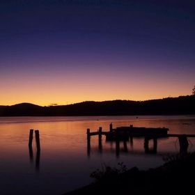 This photograph was taken at Sunset over the Clyde River NSW Australia.