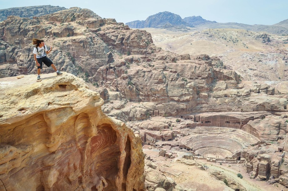 My hubby and I travelled through Jordan and went on a long hike to the top so we could view the T...
